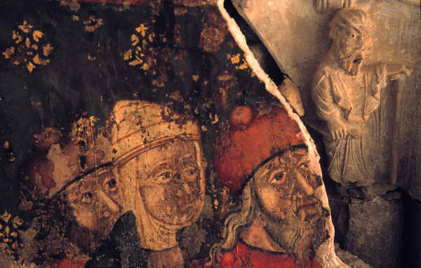 Colegial de Santa María. Pinturas y relieves románicos. Daroca