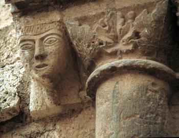 Daroca. Detalles del abside románico de Santo Domingo.