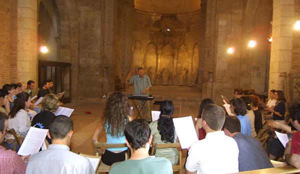 Ensayos durante el Festival Internacional de Música Antigua de Daroca.