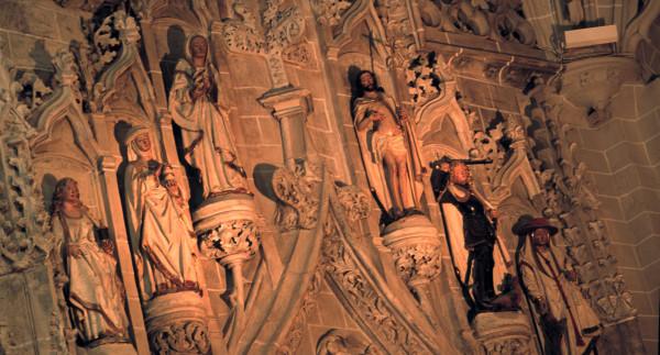 Colegial de Santa Maria. Detalle de la capilla de los Corporales.
