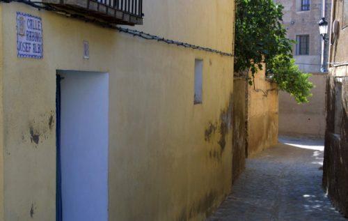 Calle Josep Albó en la judería de Daroca