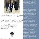 Concierto Academia las Luces