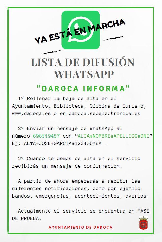 Lista Difusión Whatsapp