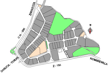 Mapa Polígono Industrial Daroca