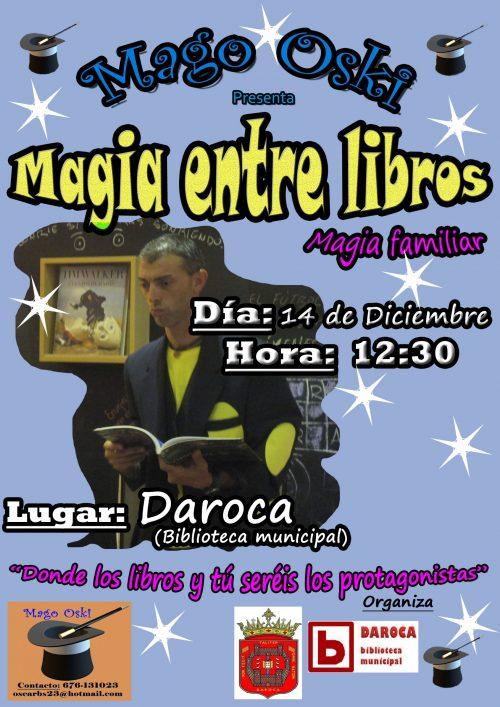 Magia entre libros biblioteca de Daroca.