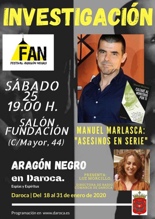 Manuel Marlasca en el Festival de Aragón Negro de Daroca
