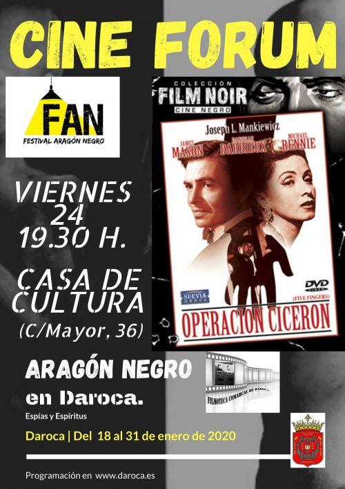 Cine Fórum en el Festival Aragón Negro de Daroca