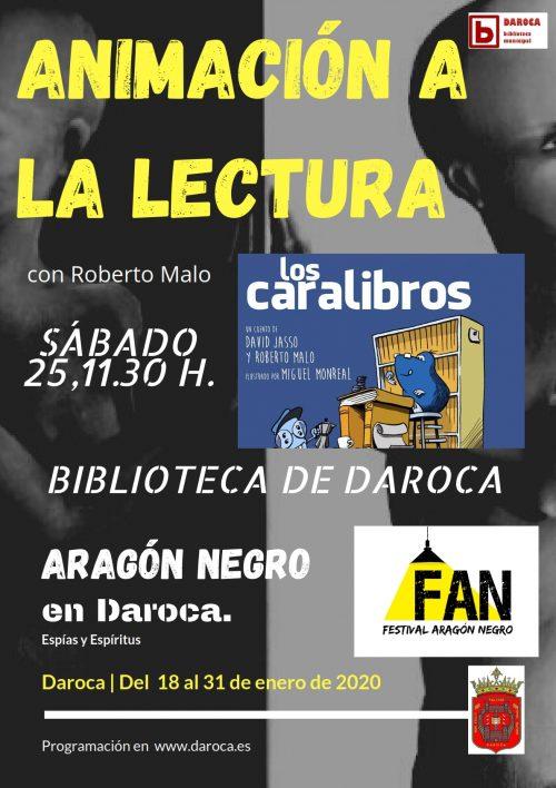 Cuentacuentos Festival Aragón Negro con Roberto Malo y Los Caralibros.