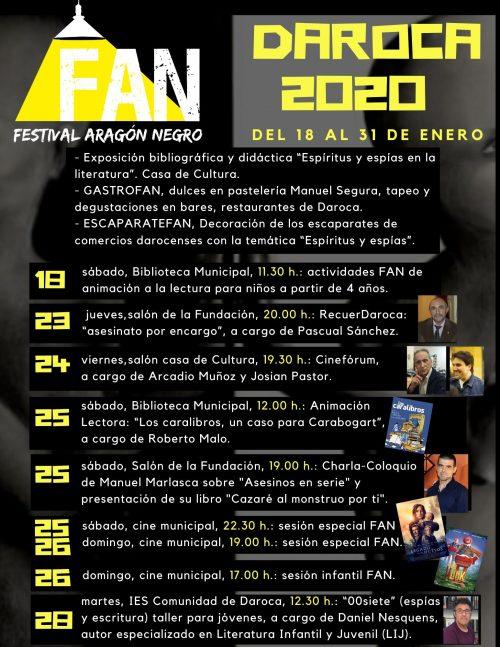 Programación del Festival Aragón Negro en Daroca