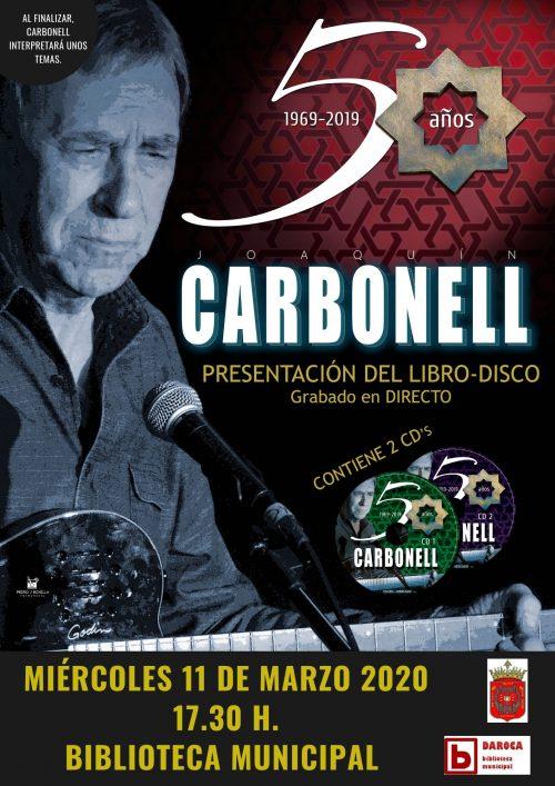 Joaquín Carbonell presenta su libro disco en la Biblioteca de Daroca