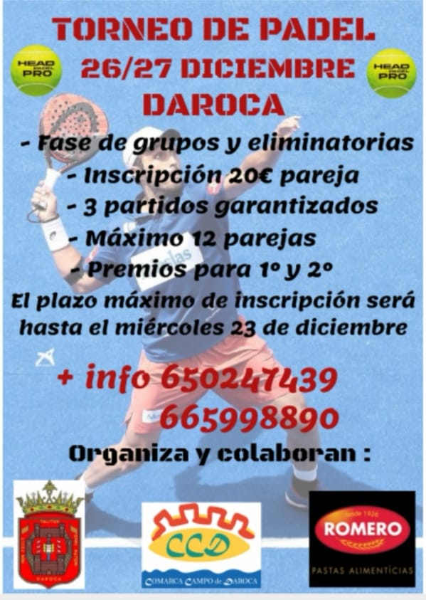 Cartel Torneo Padel Daroca