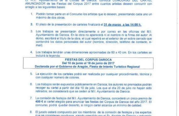 Concurso cartel fiestas corpus 2017